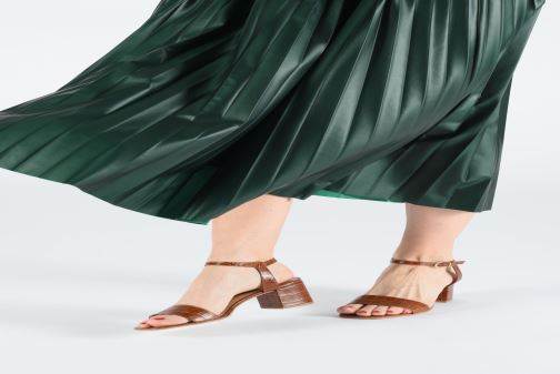 Sandals Jonak VICHO Brown view from underneath / model view