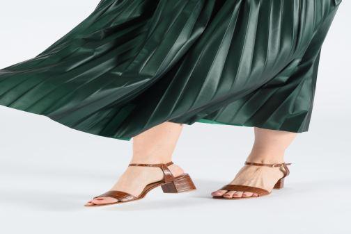 Sandales et nu-pieds Jonak VICHO Marron vue bas / vue portée sac
