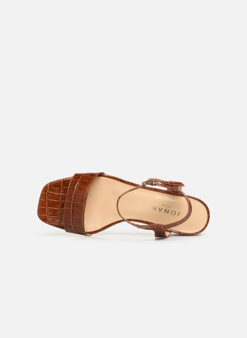 Sandals Jonak VICHO Brown view from the left
