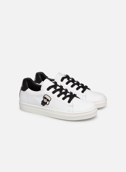 Sneakers KARL LAGERFELD Basket Z29016 Wit 3/4'