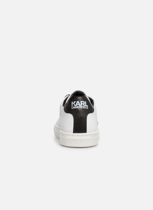 Deportivas Karl Lagerfeld Basket Z29016 Blanco vista lateral derecha