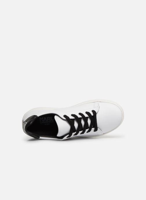 Sneakers KARL LAGERFELD Basket Z29016 Wit links