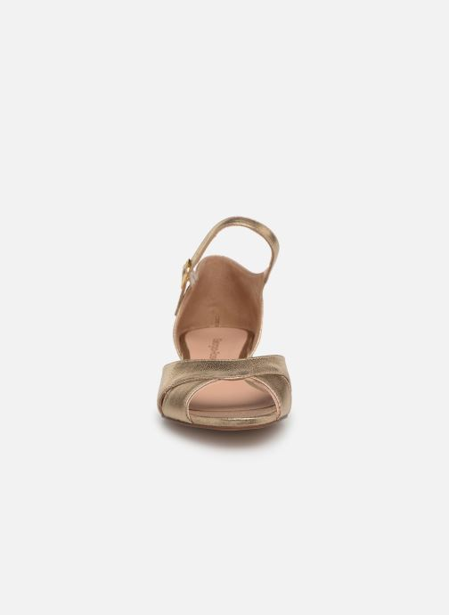 Ballet pumps Georgia Rose Chama Bronze and Gold model view