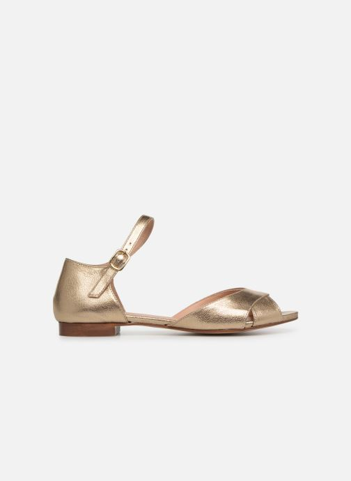 Ballet pumps Georgia Rose Chama Bronze and Gold back view