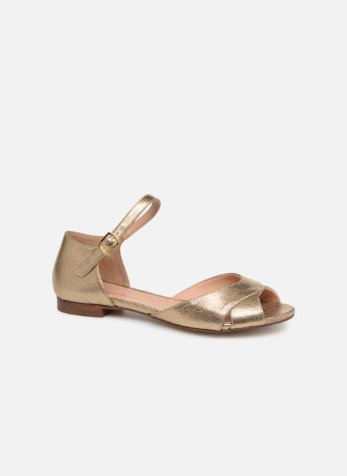 Ballet pumps Georgia Rose Chama Bronze and Gold detailed view/ Pair view