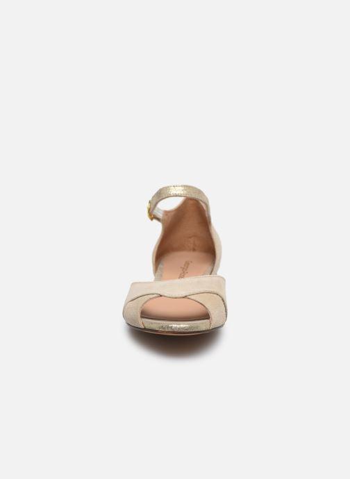 Ballerines Georgia Rose Chama Beige vue portées chaussures