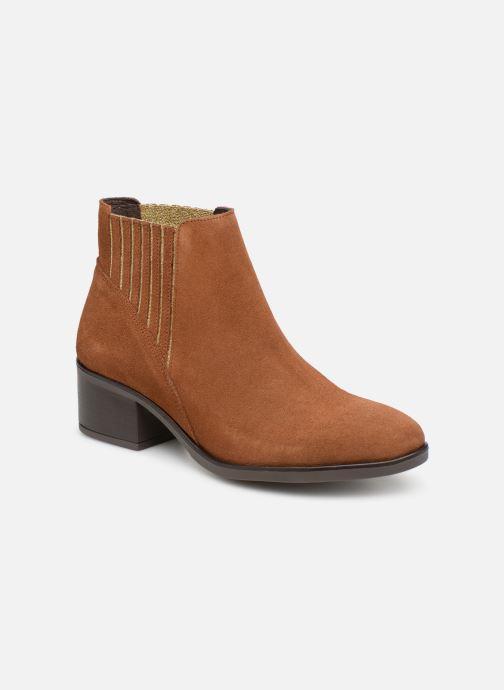 Ankle boots Georgia Rose Caulia Brown detailed view/ Pair view