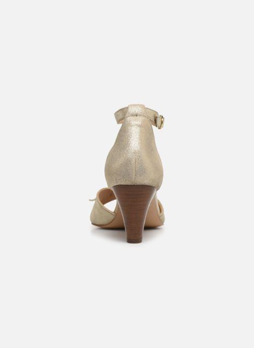 Sandales et nu-pieds Georgia Rose Cobowa Or et bronze vue droite