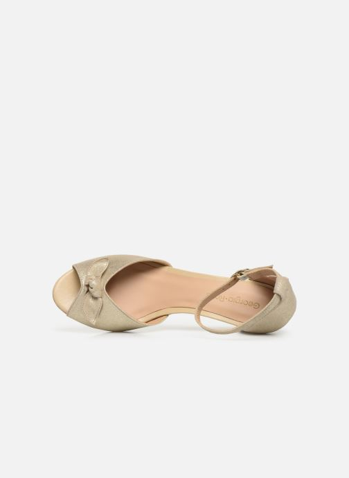 Sandales et nu-pieds Georgia Rose Cobowa Or et bronze vue gauche