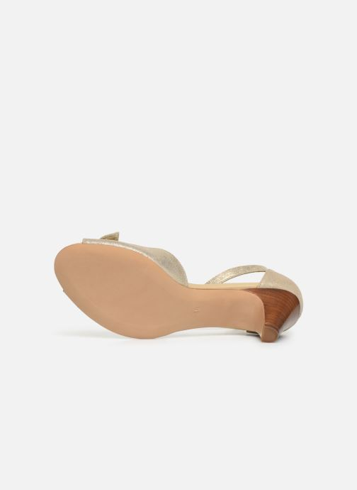 Sandales et nu-pieds Georgia Rose Cobowa Or et bronze vue haut