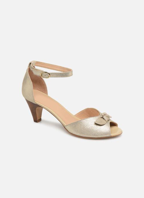 Sandales et nu-pieds Georgia Rose Cobowa Or et bronze vue détail/paire