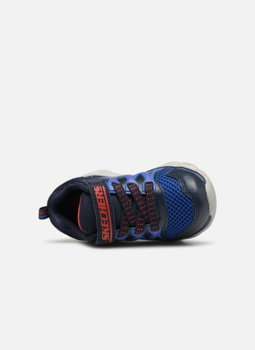 Trainers Skechers Hypno-Flash 3.0 Blue view from the left