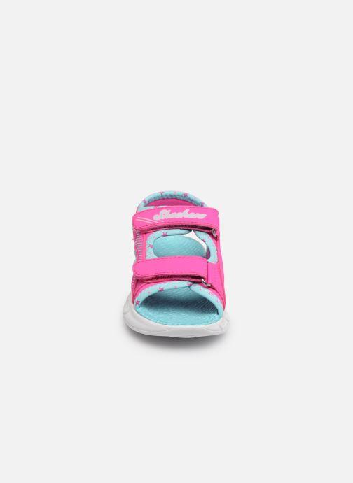 Sandales et nu-pieds Skechers C-Flex Sandal Rose vue portées chaussures