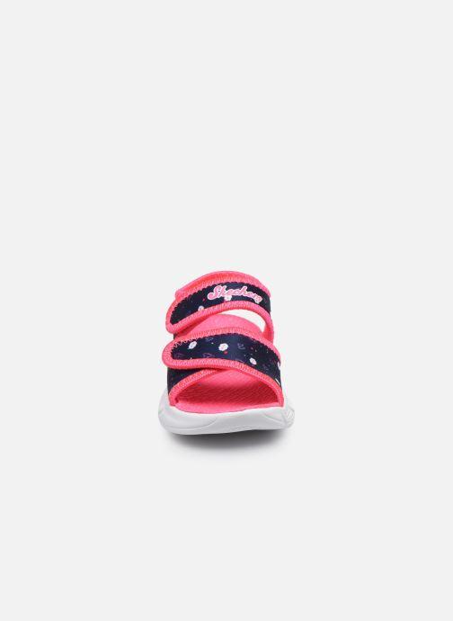 Sandalias Skechers C-Flex Sandal Rosa vista del modelo
