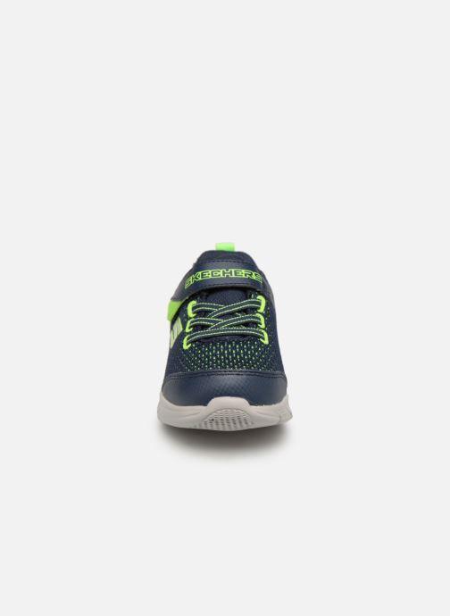 Chaussures de sport Skechers Comfy Flex Interdrift Bleu vue portées chaussures