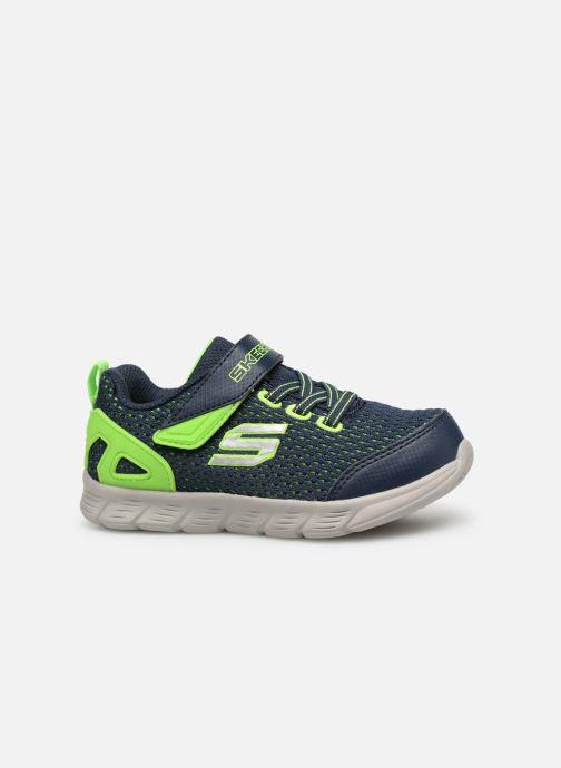 Chaussures de sport Skechers Comfy Flex Interdrift Bleu vue derrière