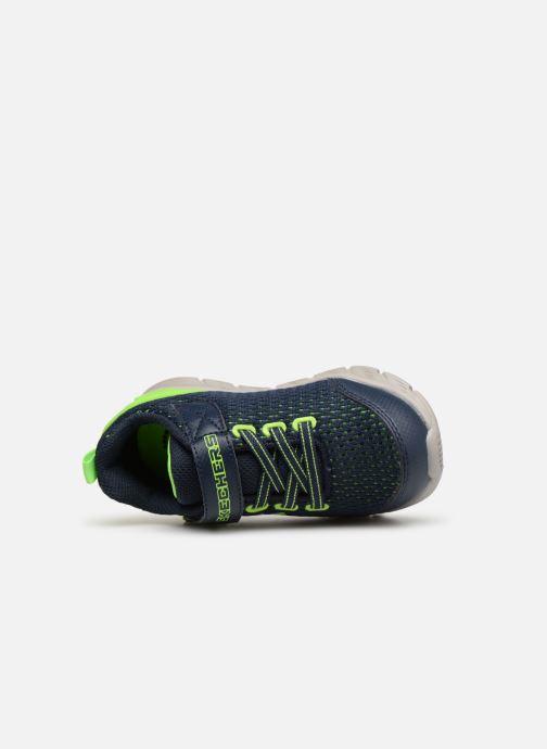 Sportschoenen Skechers Comfy Flex Interdrift Blauw links