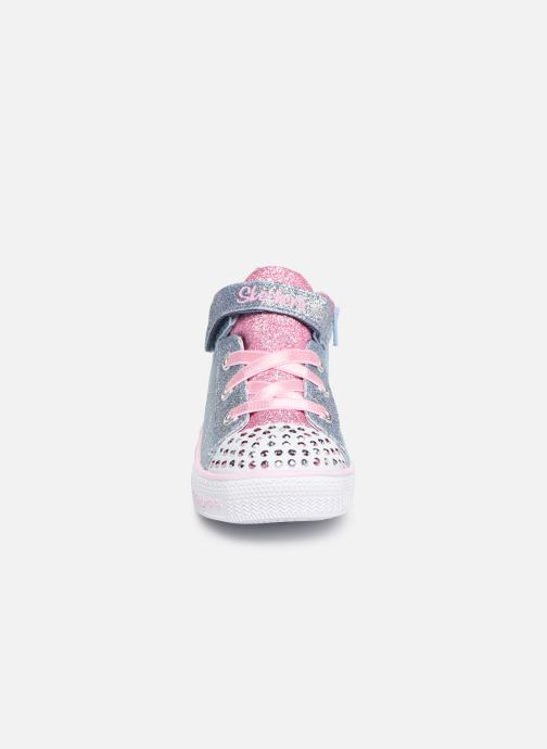 Baskets Skechers Shuffle Lite Dainty Denims Bleu vue portées chaussures
