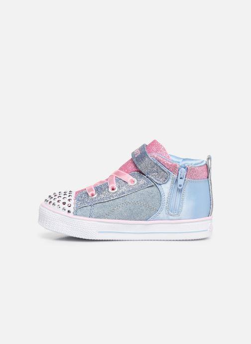 Sneakers Skechers Shuffle Lite Dainty Denims Blauw voorkant