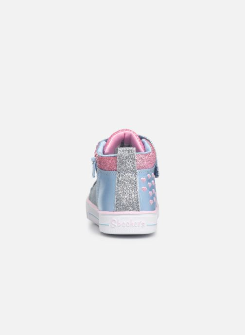 Sneakers Skechers Shuffle Lite Dainty Denims Blå Bild från höger sidan