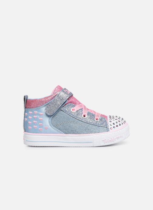 Sneakers Skechers Shuffle Lite Dainty Denims Blå bild från baksidan