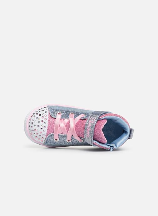 Sneaker Skechers Shuffle Lite Dainty Denims blau ansicht von links