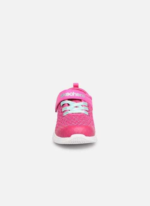 Chaussures de sport Skechers Comfy Flex Sparkle Dash Rose vue portées chaussures