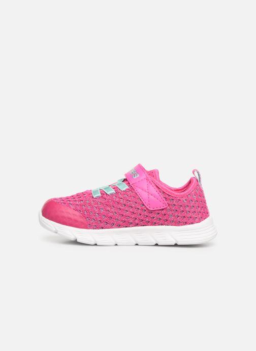 Chaussures de sport Skechers Comfy Flex Sparkle Dash Rose vue face
