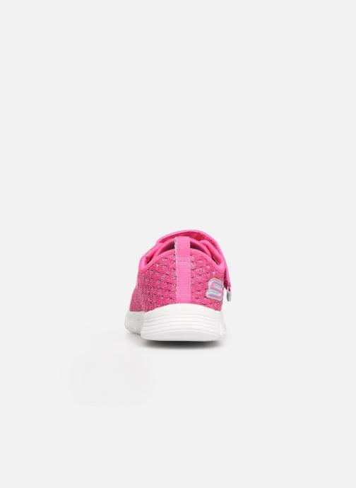 Chaussures de sport Skechers Comfy Flex Sparkle Dash Rose vue droite