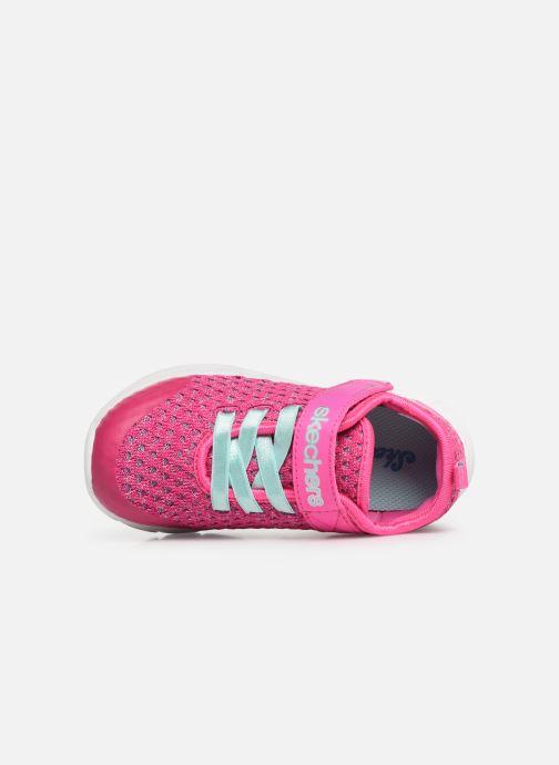 Zapatillas de deporte Skechers Comfy Flex Sparkle Dash Rosa vista lateral izquierda