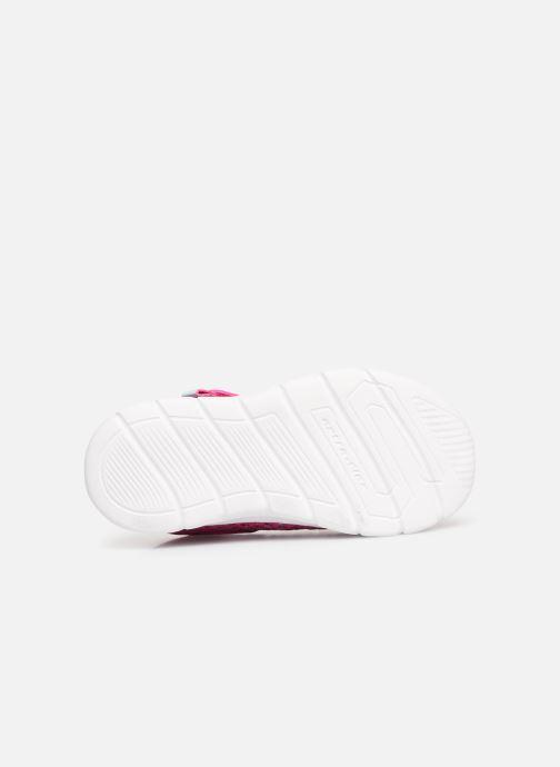Chaussures de sport Skechers Comfy Flex Sparkle Dash Rose vue haut