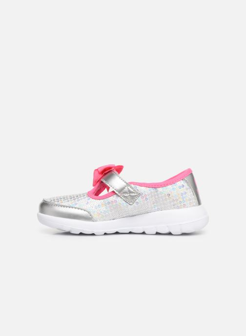 Ballerina's Skechers Go Walk Joy Sugary Sweet Zilver voorkant