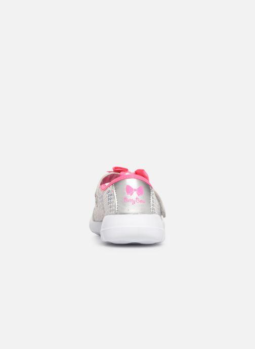 Ballerina's Skechers Go Walk Joy Sugary Sweet Zilver rechts