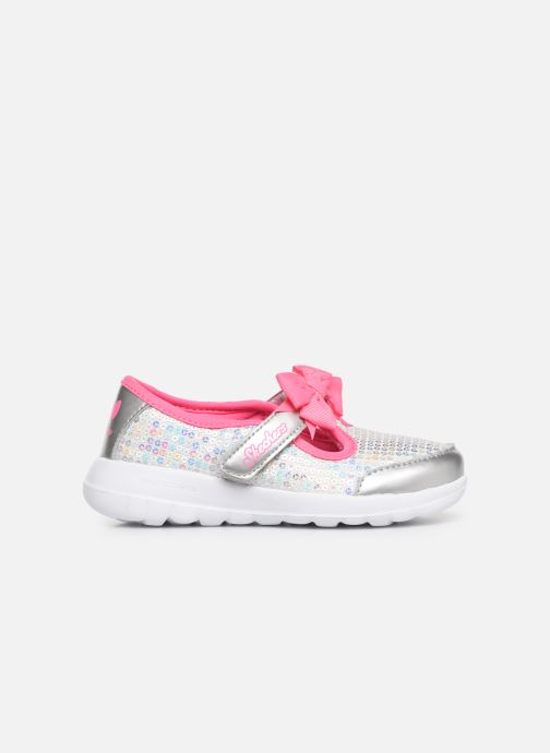 Ballerina's Skechers Go Walk Joy Sugary Sweet Zilver achterkant
