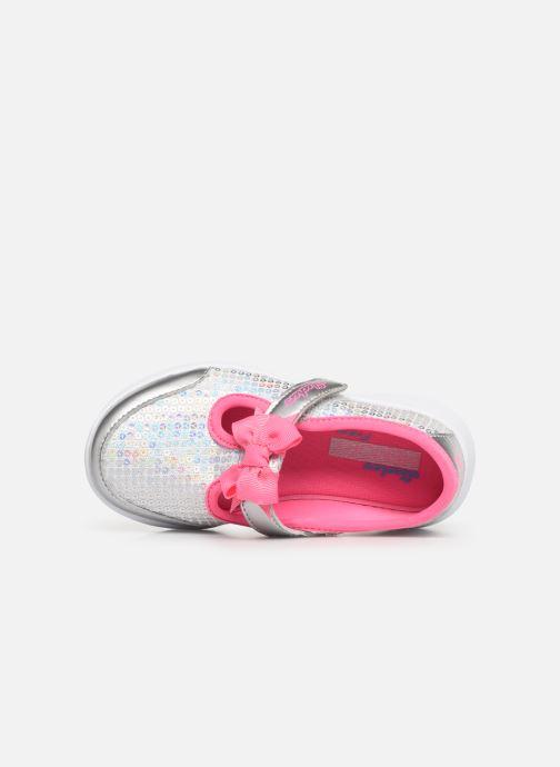 Ballerinas Skechers Go Walk Joy Sugary Sweet silber ansicht von links