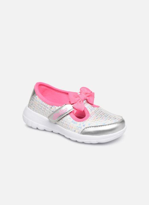 Ballet pumps Skechers Go Walk Joy Sugary Sweet Silver detailed view/ Pair view