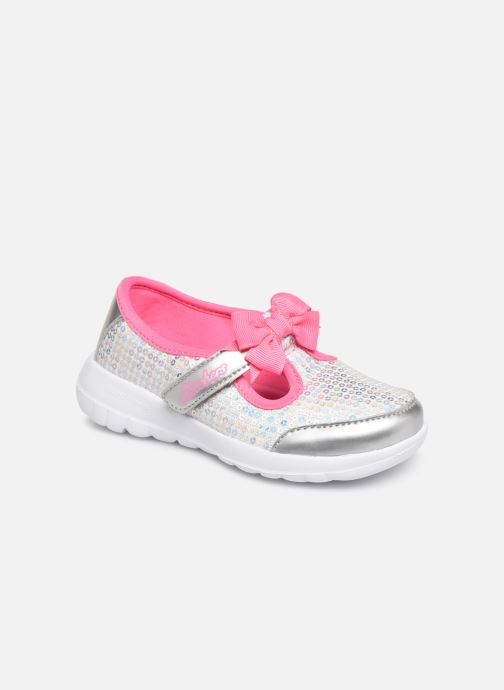 Ballet pumps Skechers Go Walk Joy Sugary Sweet Silver detailed view/ Pair view