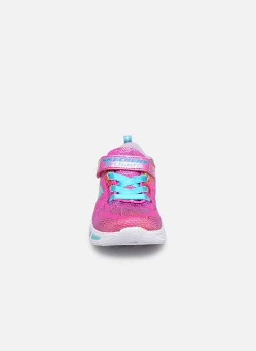 Baskets Skechers Litebeams Gleam N'Dream BB Rose vue portées chaussures