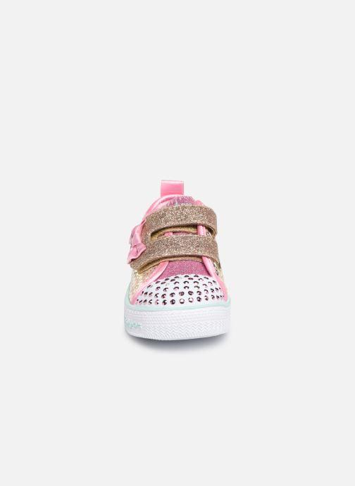 Sneaker Skechers Shuffle Lite Mini Mermaid silber schuhe getragen