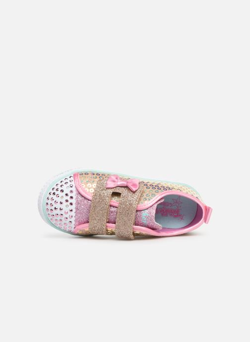 Trainers Skechers Shuffle Lite Mini Mermaid Silver view from the left