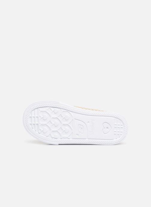 Sneaker Skechers Shuffle Lite Mini Mermaid silber ansicht von oben