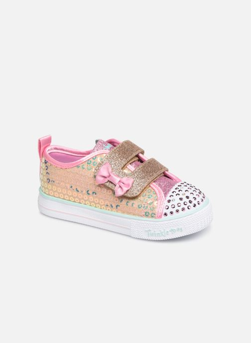 Trainers Skechers Shuffle Lite Mini Mermaid Silver detailed view/ Pair view