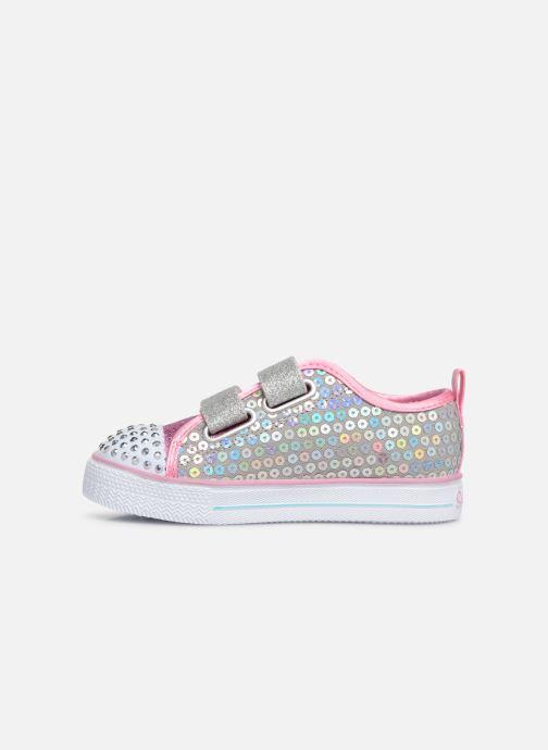 Sneakers Skechers Shuffle Lite Mini Mermaid Zilver voorkant