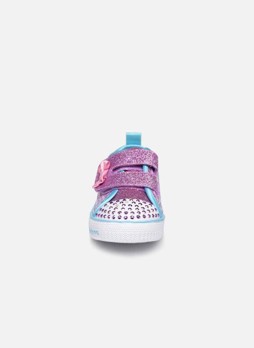 Sneaker Skechers Shuffle Lite Mini Mermaid rosa schuhe getragen