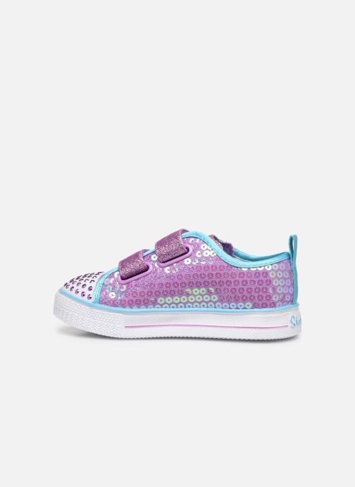 Baskets Skechers Shuffle Lite Mini Mermaid Rose vue face