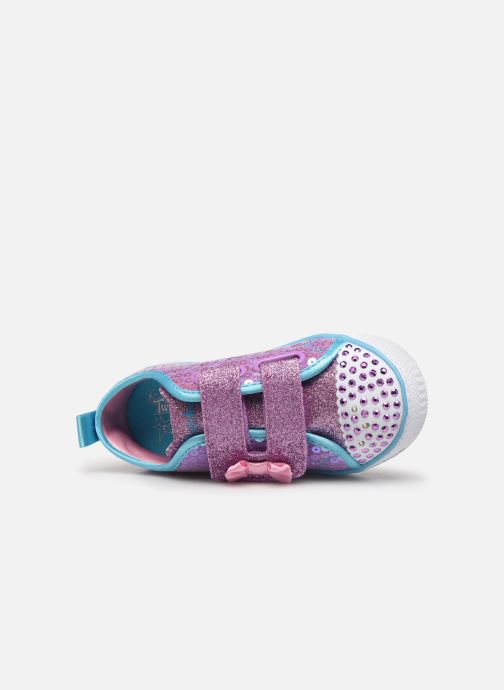 Trainers Skechers Shuffle Lite Mini Mermaid Pink view from the left