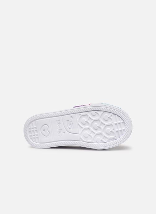 Baskets Skechers Shuffle Lite Mini Mermaid Rose vue haut