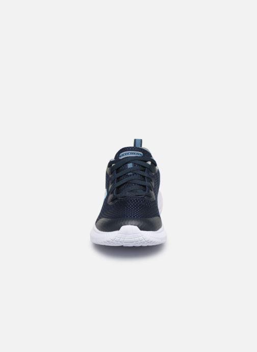 Baskets Skechers Dyna-Air Quick Pulse Bleu vue portées chaussures