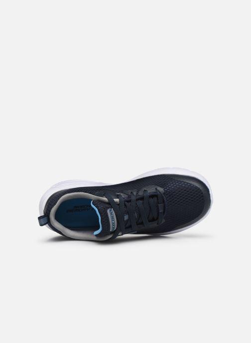 Baskets Skechers Dyna-Air Quick Pulse Bleu vue gauche