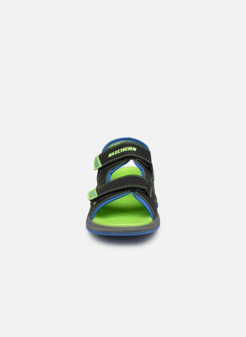 Sandales et nu-pieds Skechers Sun Spurt Noir vue portées chaussures
